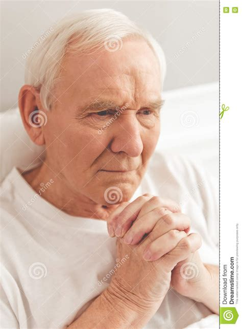 old bed guy old bed guy old man in hospital stock image image of concept
