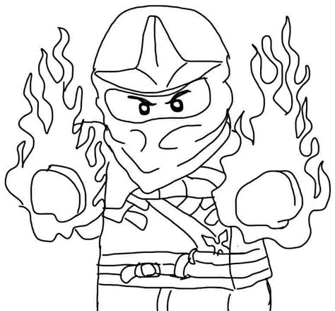 ninjago coloring page kai az coloring pages