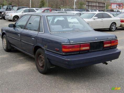 Toyota Camry 1991 1991 Blue Pearl Metallic Toyota Camry Deluxe Sedan