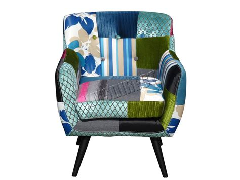 Patchwork Fabric Chair - westwood patchwork chair fabric vintage tub armchair seat