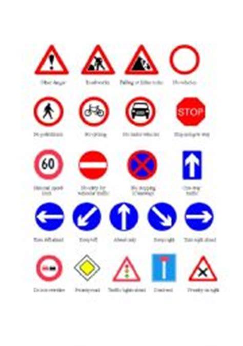 printable road sign flash cards uk english worksheets traffic signs