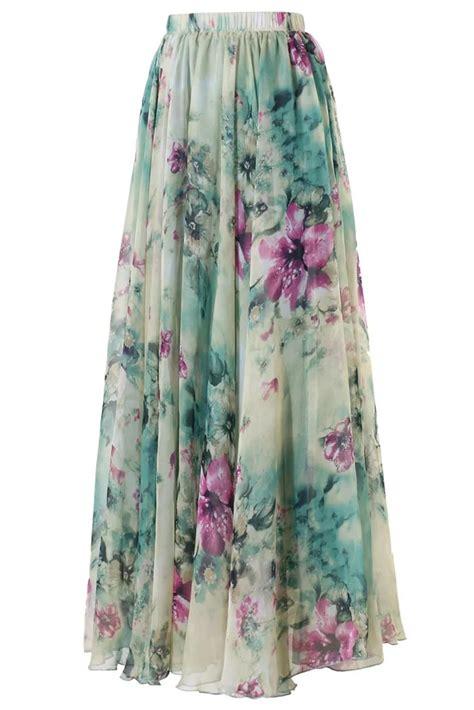 floral chiffon skirt us 12 31 floral chiffon maxi skirt dropshipping