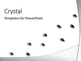 Powerpoint Template Isolated Paw Prints Over White Bydeyf Paw Print Powerpoint Template