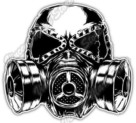 biohazard gas mask by tara gas mask sketch biohazard poison toxic car bumper vinyl
