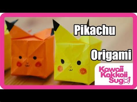Pikachu Origami Advanced - pikachu origami how to fold hd yourepeat