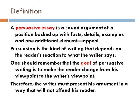 Essay Types Definition by Persuasive Writing Mrs Guillory S Class