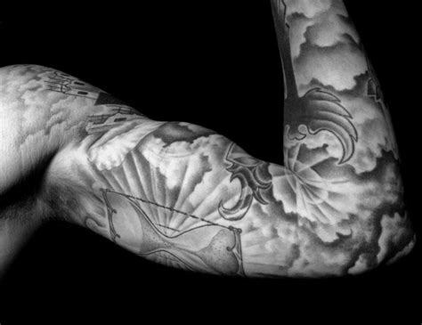 tattoo sleeve background designs cloud tattoos for ideas and designs for guys