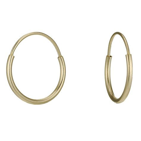 9ct gold small sleeper earrings h samuel