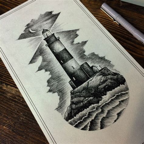 boat and lighthouse drawing 25 best lighthouse tattoos ideas on pinterest nautical