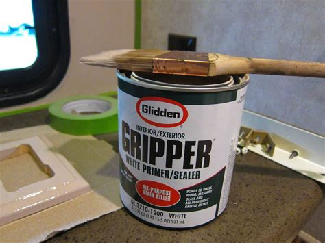 gripper primer kitchen cabinets gripper is required to paint rv walls plastics and paper