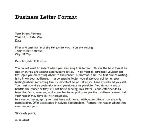 Business Letter Template Mla a letter format cover letter sles strong mla format for