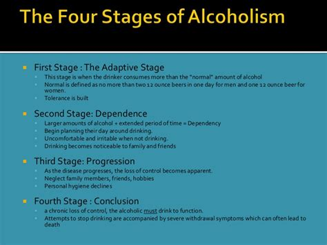 Stages Of Detox by Presentation1 Alcoholism