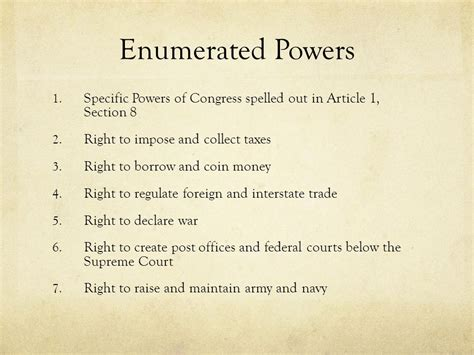 powers of congress article 1 section 8 the legislative branch of government ppt download