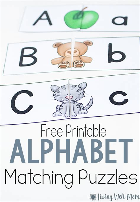 printable alphabet puzzles uppercase lowercase letter matching puzzle for
