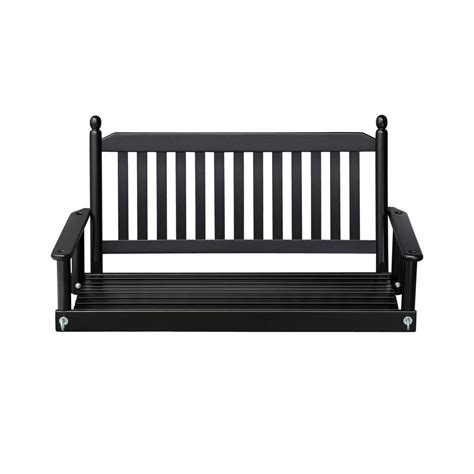black porch swings 2 person black porch swing 204psbf rta the home depot