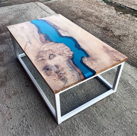 resin river coffee table handmade resin river coffee table by revive joinery