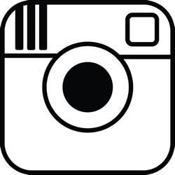 White Instagram Logo Outline by Instagram Logomecca