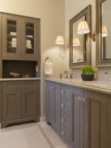 grey painted bathroom cabinets bathrooms - Built In Bathroom Cabinet Ideas