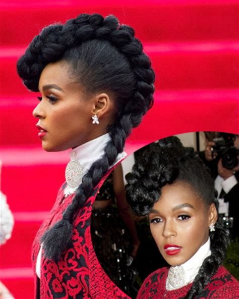 Janelle Monae Hairstyle by Pictures 2014 Met Gala Hairstyles Janelle