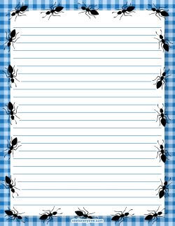 ant writing paper free printable stationery and writing paper