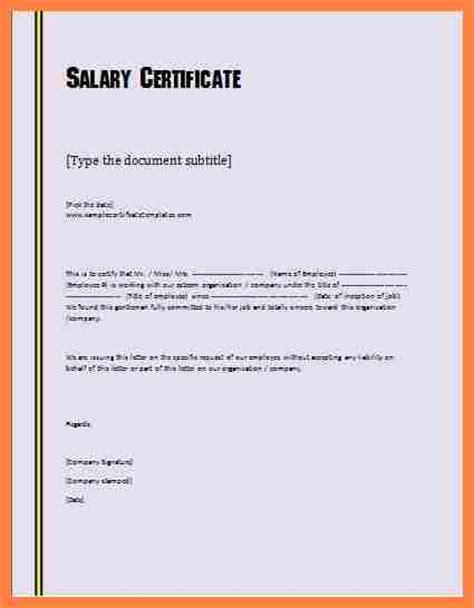 3  salary certificate word format   Salary Slip