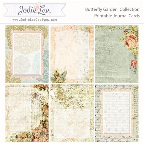 free printable vintage journal pages journal cards journals and butterflies on pinterest