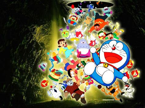 doraemon clock themes wallpaper doraemon untuk laptop wallpapersafari