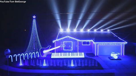 christmas lights set to star wars music video abc news
