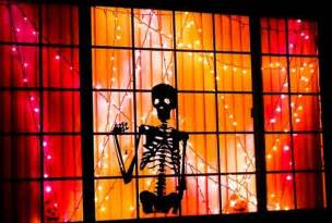 halloween window decorations how to decorate your halloween with skulls and skeletons