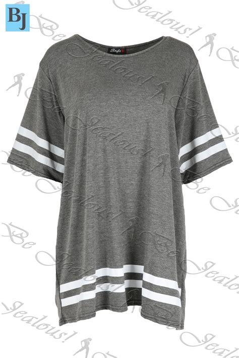 Hoodie Jaket Baseball Mini Hello Yb baggy mini dress womens sleeve sports stripe oversize pullover tops ebay