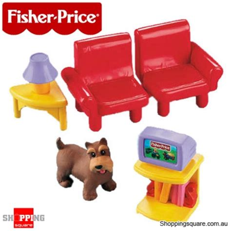 fisher price loving family 0323 my dollhouse tv