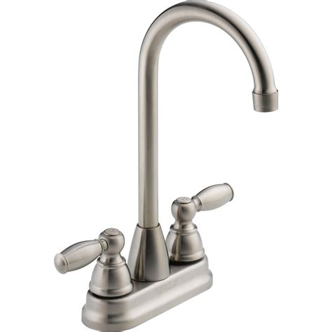 restaurant kitchen faucets shop peerless stainless 2 handle bar and prep faucet at lowes