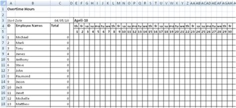 Staff Scheduling Shift Scheduling Spreadsheet Overtime Schedule Template