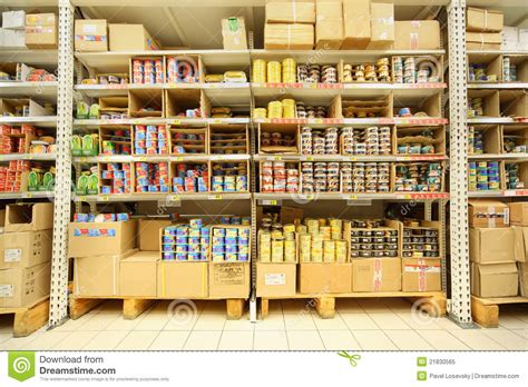 Canned Fish Shelf shelves with canned fish in shop editorial image image