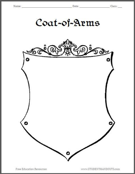 crest template printable coat of arms new calendar template site