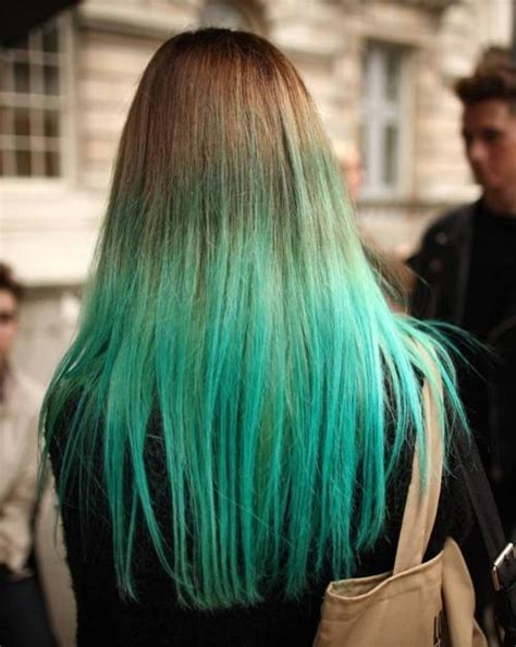 green ombre hair bisous magazine
