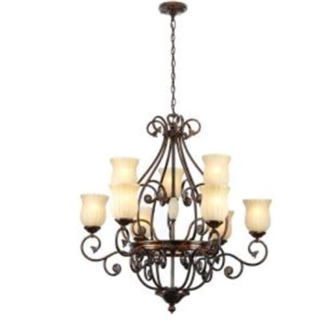 Home Depot Hanging Ls by Hton Bay Freemont 9 Light Hanging Antique Bronze