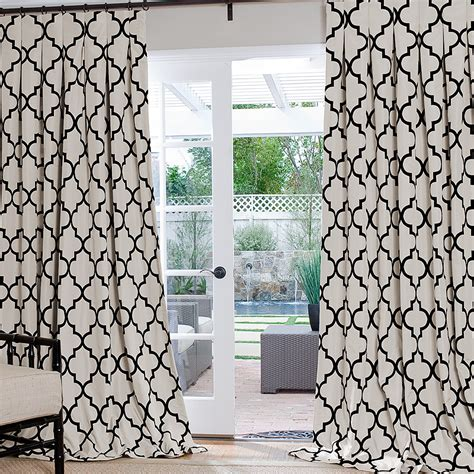 trellis drapes black and white trellis curtains custom black and white