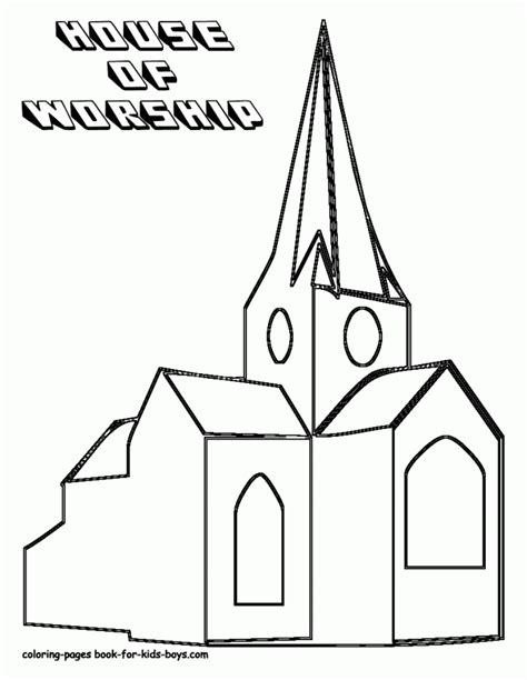 Church Coloring Pages For Kids Coloring Home Coloring Pages For Children S Church