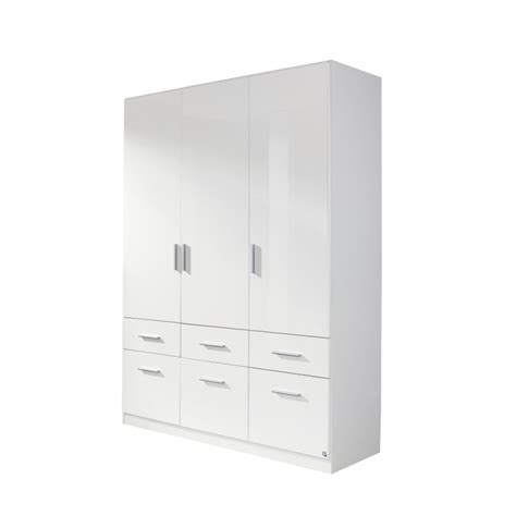 White High Gloss Wardrobes by White High Gloss Wardrobe With Drawers
