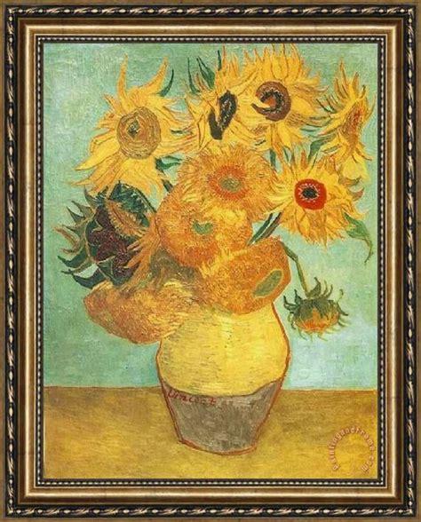 18 Inch Vase Vincent Van Gogh Sunflowers Framed Print For Sale