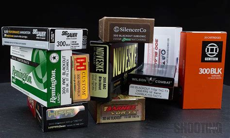 ultimate 300 blackout ammo test shooting times