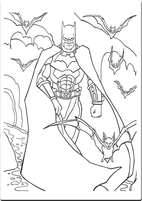 free coloring pages of batman 4