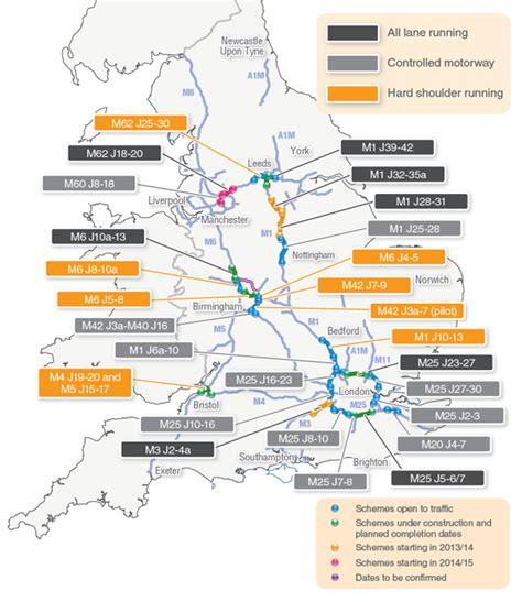 map uk motorway services smart motorways uk map fleet industry news