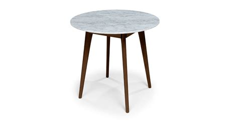 mara walnut cafe table dining tables article modern