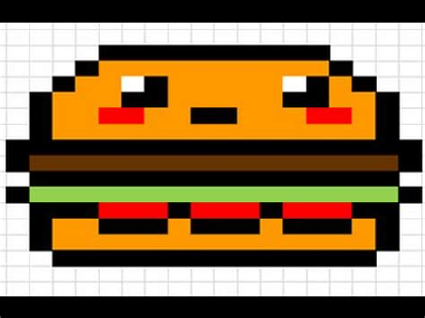 imagenes de hamburguesas kawaii como hacer una hamburguesa kawaii pixel art youtube