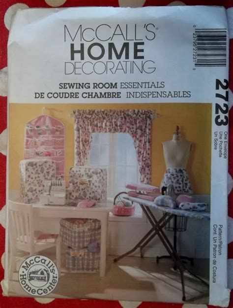mccalls 2723 uncut pattern home decor sewing room mccalls 2723 sewing room machine cover organizers