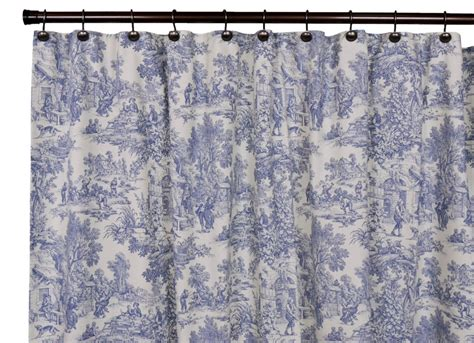 Victoria Park Toile Bathroom Shower Curtain Blue Designs