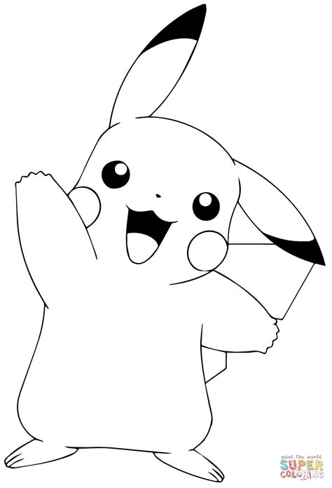 pikachu face coloring page coloring page pok 233 mon go pikachu waving coloring page free printable