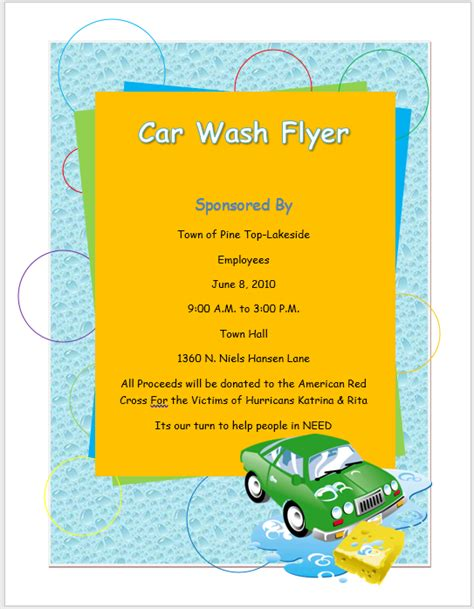car wash flyer template word templates
